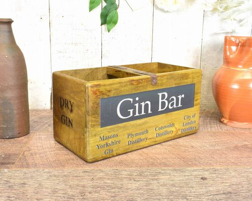 Medium Vintage Box Gin Bar